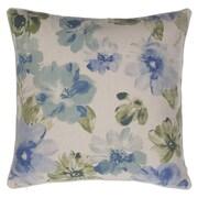 14 Karat Home Inc. Flora Throw Pillow; Moss/Harbor/Indigo