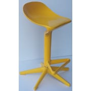 Bienal Spoon Adjustable Height Bar Stool (Set of 2); Yellow