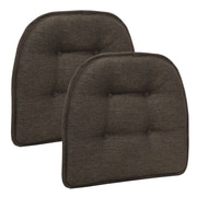 Klear Vu Omega Gripper Tufted Chair Cushion (Set of 2); Chestnut
