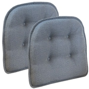 Klear Vu Omega Gripper Tufted Chair Cushion (Set of 2); Steel