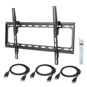 "Zax 32""-65"" Flush TV Mount With Axis HDMI Cable And Surge Protector"