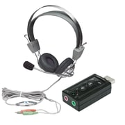 Manhattan USB Sound Adapter And Stereo Headset With Volume Control