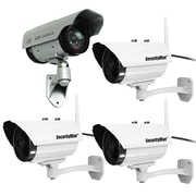 3 Pack Securityman Diy Ip Camera & Sm-3803 Solar-powered Simulated Camera
