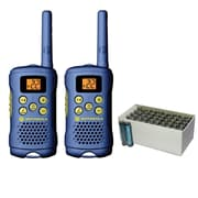 Motorola 16-mile 2-way Radio (light Blue) & UPG Heavy-duty Battery Box