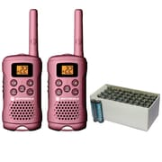 Motorola 16-mile Talkabout 2-way Radio (pink) & UPG Heavy-duty Battery Box