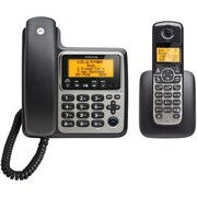 Motorola Dect 6.0 2-handset Digital Cordless/corded Phone System With Answering Machine