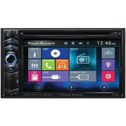 """Power Acoustik 6.2"""" Double-din In-dash LCD Touchscreen DVD Receiver With Bluetooth® & Mhl® Mobilelink X1"""