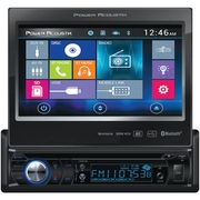 """Power Acoustik 7"""" Single-din In-dash Motorized LCD Touchscreen DVD Receiver With Bluetooth® & Mhl® Mobilelink X1"""