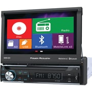"Power Acoustik 7"" Single-din In-dash Motorized LCD Touchscreen DVD Receiver With Bluetooth® & Mhl® Mobilelink X2"