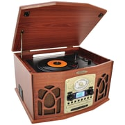 Pyle Home Bluetooth Retro Vintage Classic Style Turntable Vinyl Record Players With Vinyl-to-MP3 Recording (wood)