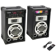 Pyle Pro Dual 800-watt Disco Jam Powered Two-way PA Bluetooth Speaker System
