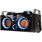 QFX Blue Rechargeable Bluetooth Party PA Boombox (blue)