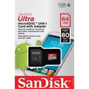 Sandisk SDsqunc-064g-an6ma Ultra MicroSDXC Memory Card (64gb)