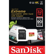 Sandisk SDsqxne-032g-an6ma Extreme MicroSDHC Memory Card With Adapter (32gb)