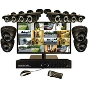 "Security Labs 16-channel 960h 3TB DVR With 12 800TVL Cameras & 22"" LED Monitor"