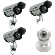 Security Man Ipcam-sd Camera W/ Three Solar Powered Cameras