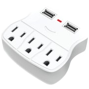 Steren 3-outlet Wall Tap With 2 USB Outlets