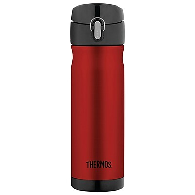 Thermos Stainless Steel Vacuum Insulated Direct Drink Backpack Bottle 16oz cranberry