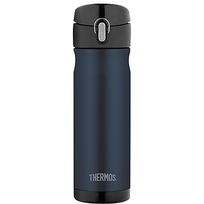 Thermos Stainless Steel Vacuum Insulated Direct Drink Backpack Bottle 16oz midnight Blue