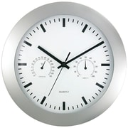 "Timekeeper 12"" Round Wall Clock & Weather Station"
