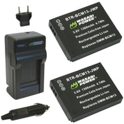 WASABI POWER KIT-BTR-BCM13-LCH-BCM13 Panasonic® DMW-BCM13, DMW-BCM13PP Battery 2-Pack & Charger