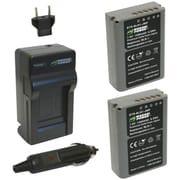 WASABI POWER KIT-BTR-BLN1-LCH-BLN1 Olympus® BLN-1 Battery 2-Pack & Charger