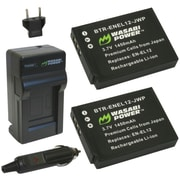 WASABI POWER KIT-BTR-ENEL12-LCH-ENEL12 Nikon® EN-EL12 Battery 2-Pack & Charger