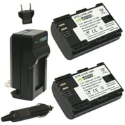 WASABI POWER KIT-BTR-LPE6-LCH-LPE6 Canon® LP-E6, LP-E6N Battery 2-Pack & Charger