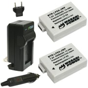 WASABI POWER KIT-BTR-LPE8-LCH-LPE8 Canon® LP-E8 Battery 2-Pack & Charger
