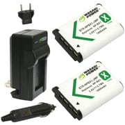 WASABI POWER KIT-BTR-NPBX1-LCH-NPBX1 Sony® NP-BX1, NP-BX1/M8 Battery 2-Pack & Charger