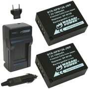 WASABI POWER KIT-BTR-NPW126-LCH-NPW126 Fujifilm® NP-W126 Battery 2-Pack & Charger