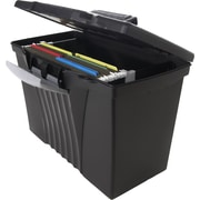 Storex Portable File Box with Organizer Lid, Letter/Legal (STX61510U01C)