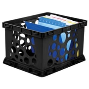 Storex Large Storage and Transport File Crate, Letter/Legal, 3/CT (STX61546U03C)