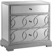 """Stein World Emporia 31"""" Storage Cabinet, Silver Leaf/Mirrors (12615)"""