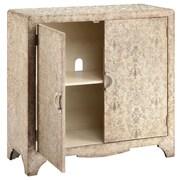 """Stein World Cabbott 36.38"""" Accent Cabinet, Champagne/Textured Vinyl Applique (13202)"""