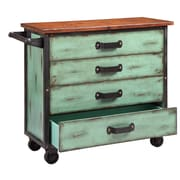 Stein World Burnham Kitchen Island, Age Turquoise (13253)