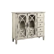 "Stein World Briley 40.5"" Accent Cabinet, Whitewash with black rub through (13386)"