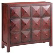 """Stein World Maris 38.75"""" Accent Cabinet, Vintage Red (28287)"""