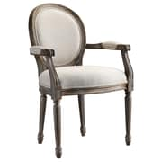 Stein World Singleton,Neutral Fabric/Walnut Wood with Weathered Grey Distressing Accent Chair (28384)