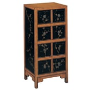 "Stein World Niko 39.5"" Accent Chest Black/Pine Floral (42413)"