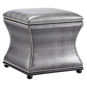 Stein World Dion Storage Stool Shimmery Metallic Faux Snakeskin (57219)