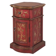 "Stein World Reia 25"" Accent Cabinet, Antique Red, Brown (58527)"