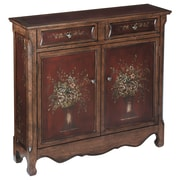 "Stein World Chamberlin 37"" Accent Cabinet, Burgundy, Walnut (70297)"