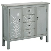 "Stein World Selina 36.75"" Accent Cabinet, Silver Blue Grey (75768)"