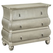 "Stein World 5th 33.75"" Accent Chest Champagne Silver (75796)"