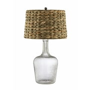 Panama Jack 150 Watt Genoa Table Lamp, Clear Glass, Sea grass Brown (99770)