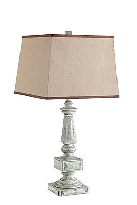 Stein World 150 Watt Laia Table Lamp, Distressed Off White (99807)