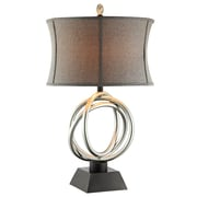 Stein World 150 Watt Trinity Table Lamp, Silver Metal (99849)