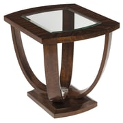Stein World Manhattan  End Table, Rich brown wood grain finish (257-021)