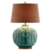 Stein World 150 Watt Rochel Table Lamp, Turquoise Green (90030)